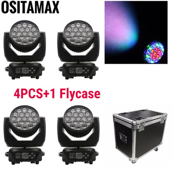 цена на 19X15W LED Zoom Wash Moving Head Light Washer Beam RGBW 4IN1 DMX512 Disco Party Lights Lumiere LED Moving Head Stage DJ Light