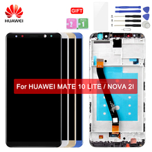 HUAWEI LCD Touch Screen with Frame Original Display For Huawei Mate 10 Lite Display LCDs Nova 2i RNE-L21 Replacement Screen 5pcs lot for huawei ascend mate 8 mt8 lcd display touch screen mobile phone lcds free shipping