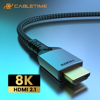 2021 CABLETIME Premium 8K HDMI Cable HDR 8K/60Hz 4K/144Hz Ultra HD for Laptop Macbook Lenovo HDTV LG Sony Video C388