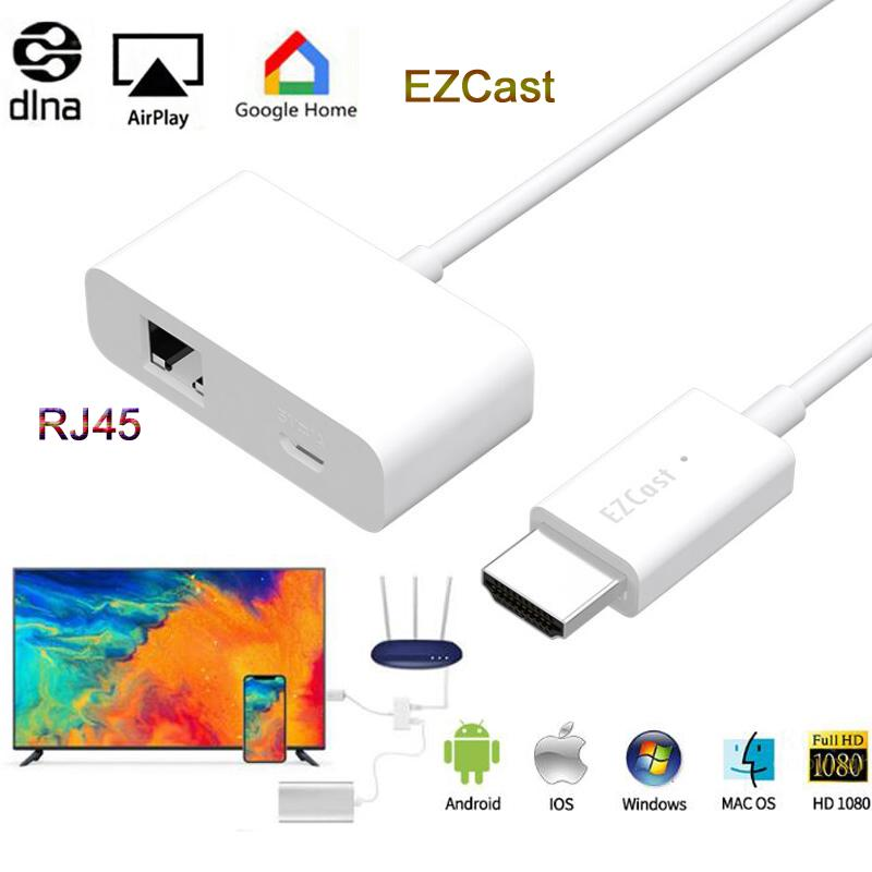 RJ45 Ethernet Transfer Wire MagicEther to HDMI Wireless Wifi Display Dongle Airplay DLNA Mirror Screen TV Adapter for iOS Mac OS