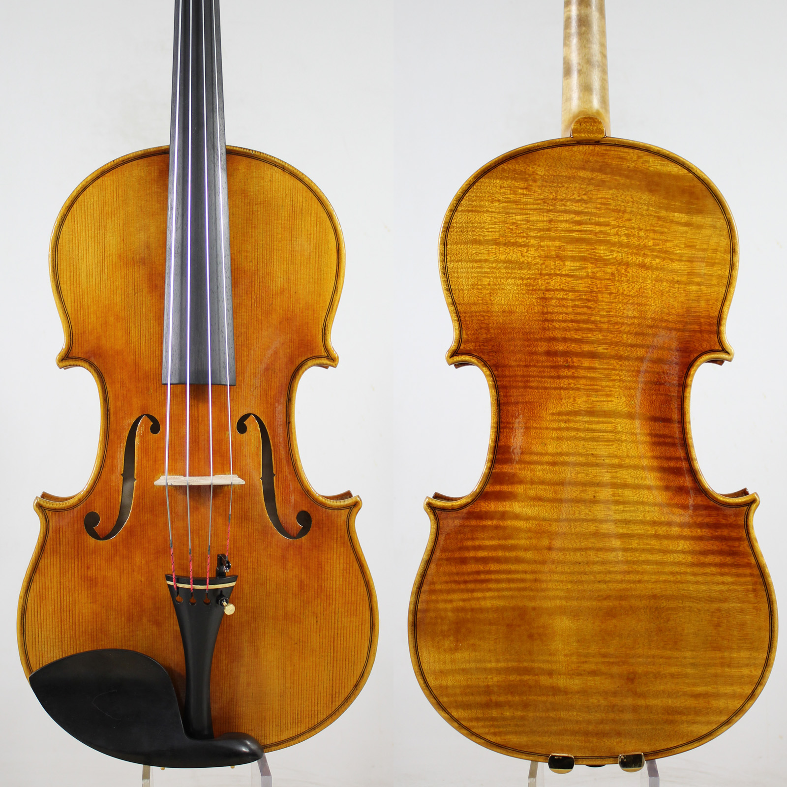1 PC Back! A Strad Viola Copy,15inch 15.5inch Master Performance! Warm Deep Tone! Free Shipping And Bow Case! European Spruce!