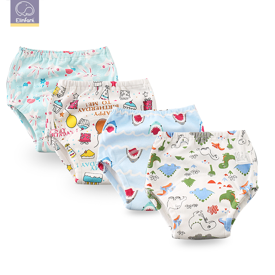 Elinfant 1 Pcs 6 Layers Swaddle  Cotton Baby Washable Cloth Diaper Reusable Nappies /  Baby Training Pants