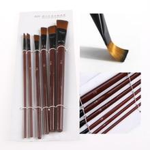 6Pcs Nylon Acrylic Oil Paint Gouache Brushes for artist Supplies Watercolor Set L4MB