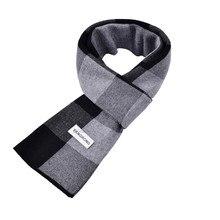 180X30cm Korean fashion Autumn winter thick warm cashmere wool scarf for men neck British plaid long scarves men gift