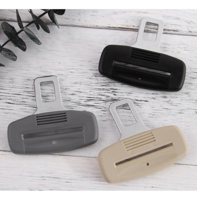 Boucle de verrouillage de ceinture de sécurité | Noir créatif, Clip dextension de ceinture de siège de voiture, bouchon de douille épaisse, accessoires de voiture 1 pièce
