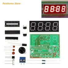 DIY 4-bit Digital Clock Soldering Exercise Parts Welding Practice Perfectly for Electronics Learners Students Enthusiast LX9C
