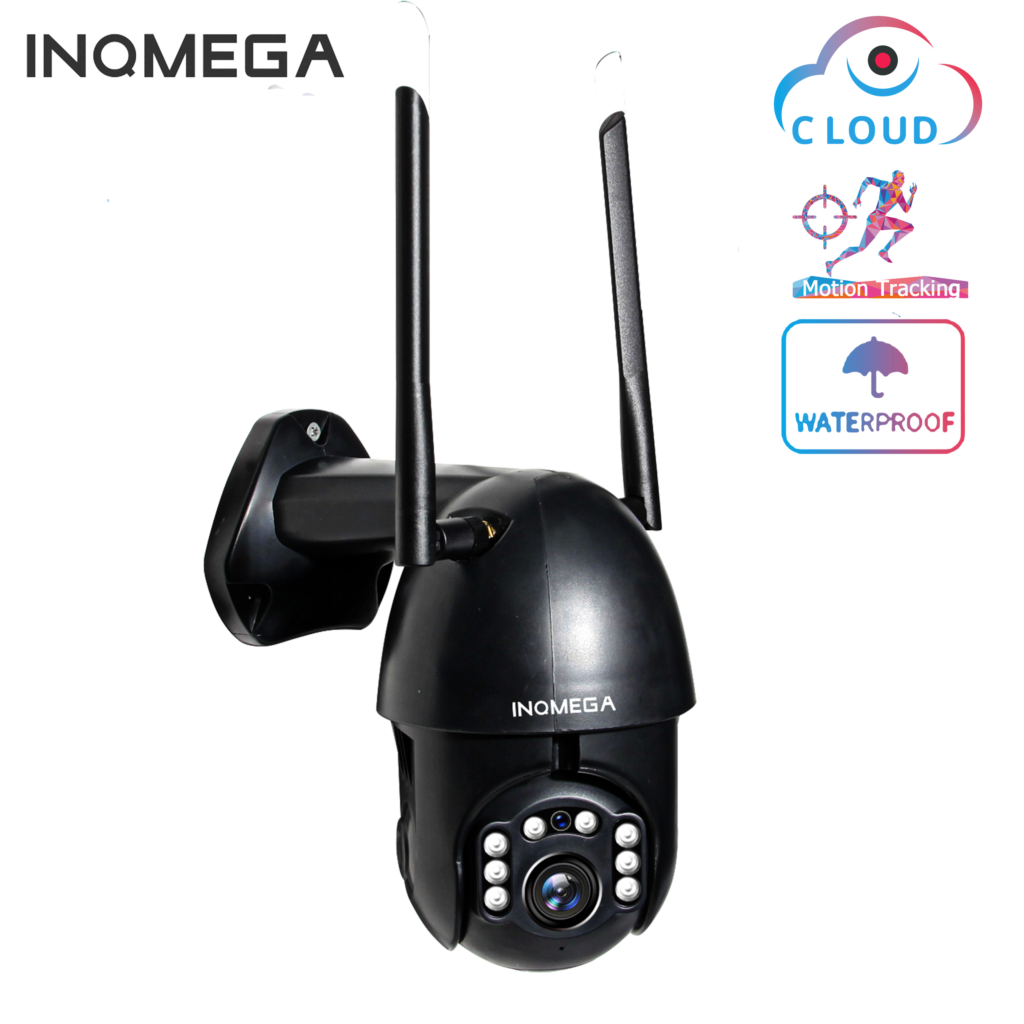 INQMEGA WiFi  1080P IP Camera  Wireless Auto Tracking PTZ Speed Dome Camera Outdoor CCTV Security Surveillance Waterproof Camera