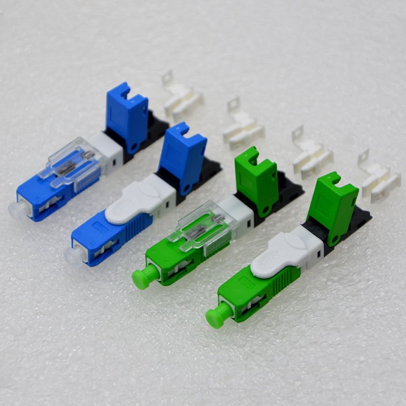 200PCS NEW Optic Fiber Fast Connector ESC250D SC UPC/APC FTTH Single Mode Fiber Optic Quick Connector Special Wholesale