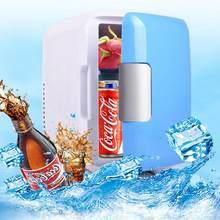 12v 4l portátil casa geladeira carro de baixo nível de ruído mini refrigeradores freezer caixa aquecimento geladeira