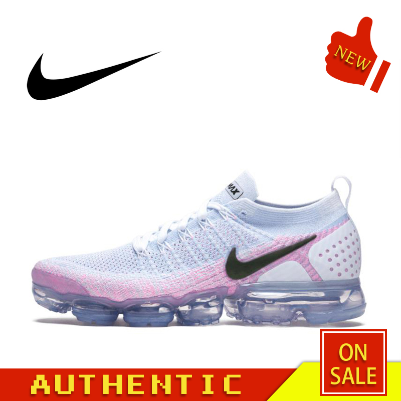 Original Authentic NIKE Air Max Vapormax Flyknit Women's Running Shoes Outdoor Sports Classic Breathable 2019 New 942843-102