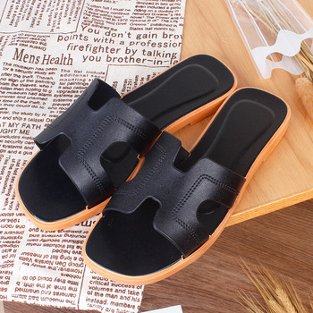2020 Summer New Slippers Female Explosion H Sandals Home Indoor Antiskid Slippers Leisure Flat-Bottomed Slippers shoes цена 2017