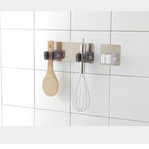 Image 4 - GUANYAO דבק רב תכליתי ווי קיר רכוב סמרטוט ארגונית מחזיק RackBrush מטאטא קולב וו מטבח חדר אמבטיה ווים חזקים