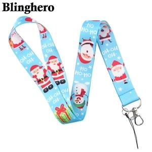 Image 5 - CA484 Groothandel 20 Stks/partij Kerstman Kerst Neck Strap Lanyard Voor Key Id kaart Telefoon Strap Usb Badge Houder Hangen rope Lariat