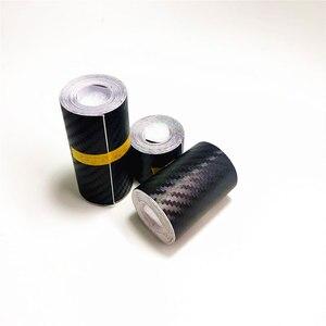 Nano Carbon Fiber Car Sticker DIY Paste Protector Strip Auto Door Sill Side Mirror Anti Scratch Tape Waterproof Protection Film(China)