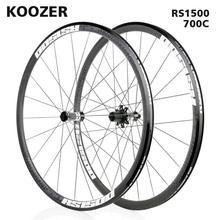 700C Wielset Koozer RS1500 Racefiets Voor 2 Achter 4 Lager 72 Ring 30Mm Rim 2:1 Spoke Wielen Ultralight 1500G Gebruik RS330