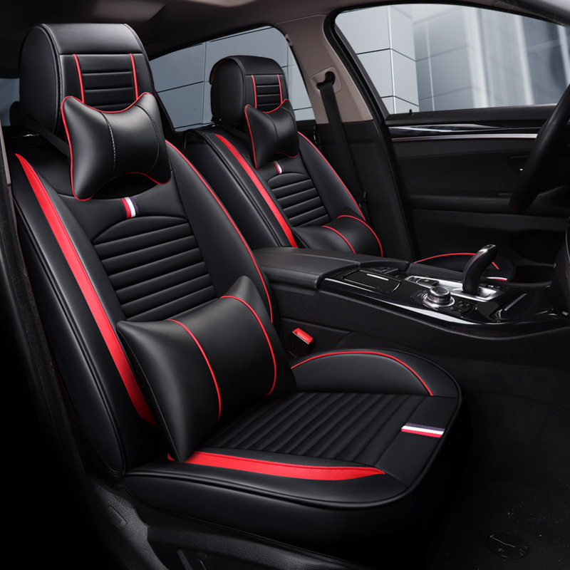 Full Coverage Eco-leather auto seats covers PU Leather Car Seat Covers for audi	a6 c5 c6 c7 4f avant allroad audi	a7 audi	q3 aud