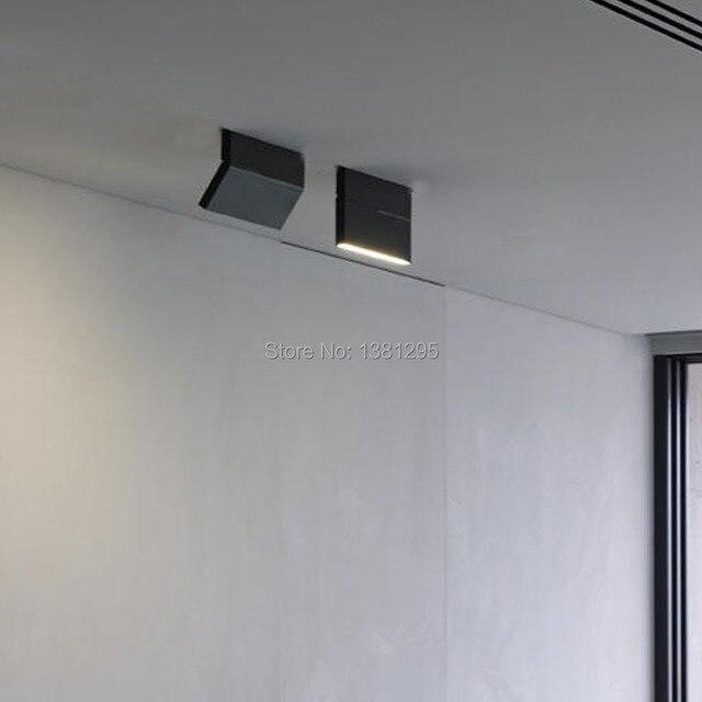 1 adet LED sıva üstü Downlight spot 12W siyah beyaz dönebilen 3000K 4000K 6000K ev lambası ayarlanabilir tavan Spot ışığı
