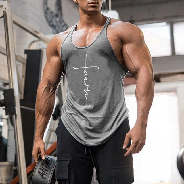 Gym Tank Top Men Fitness Clothing Mens Bodybuilding Tank Tops Summer Gym Clothing for Male Sleeveless Vest Shirts Plus Size 5