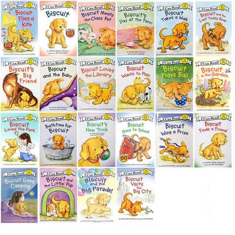 22 livres/ensemble Biscuit série anglais livres d'images je peux lire livre d'histoire pour enfants livre de lecture d'éducaction précoce pour les enfants - 2