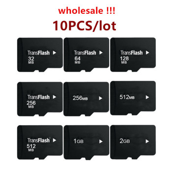 Big Promotion!!! 10pcs/lot 64MB 128MB 256MB 512MB 1GB 2GB 4GB 8GB TF Card Transflash Micro SD Memory