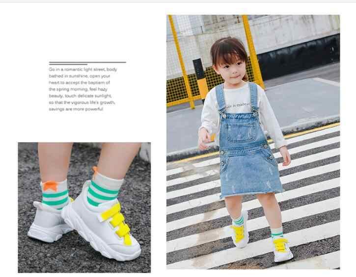 2019 nowy koreański jesień buty sportowe dla dzieci chłopcy i dziewczęta moda buty do biegania uczniów małe białe buty
