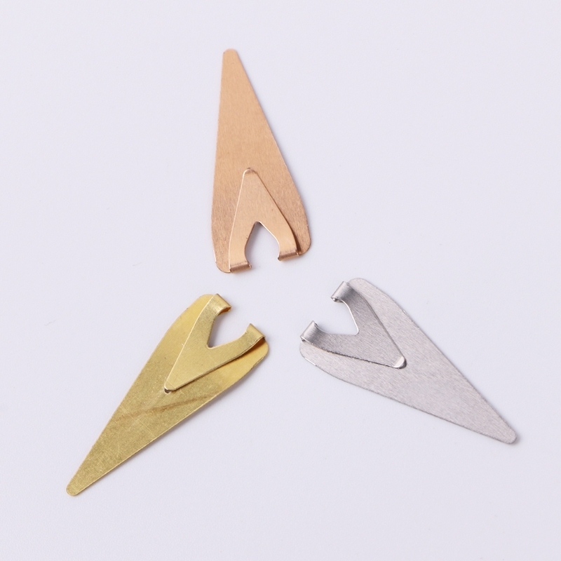 10Pcs Mini Metal Bookmark Paper Clips Page Holder For Book Stationery School New DXAC