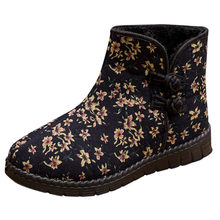 shoes woman fashion boots women zapatos de mujer Women's Plus Velvet Warm Cotton Shoes Waterproof Nation Style Snow Boots(China)