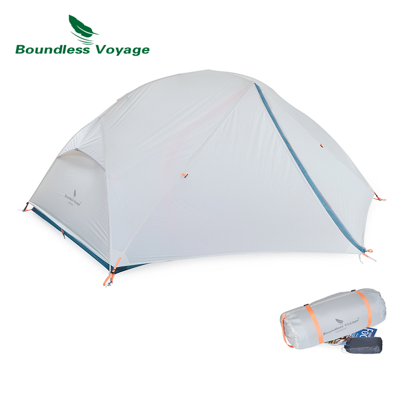 Boundless Voyage 2 Person Tent 20D Nylon Silicone Camp Tent Double Layer Waterproof Tent Outdoor Camping Hiking Fishing Tent image