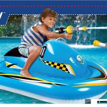 Floating row floating bed jet skis free give water guns Children's PVC inflatable motorboat