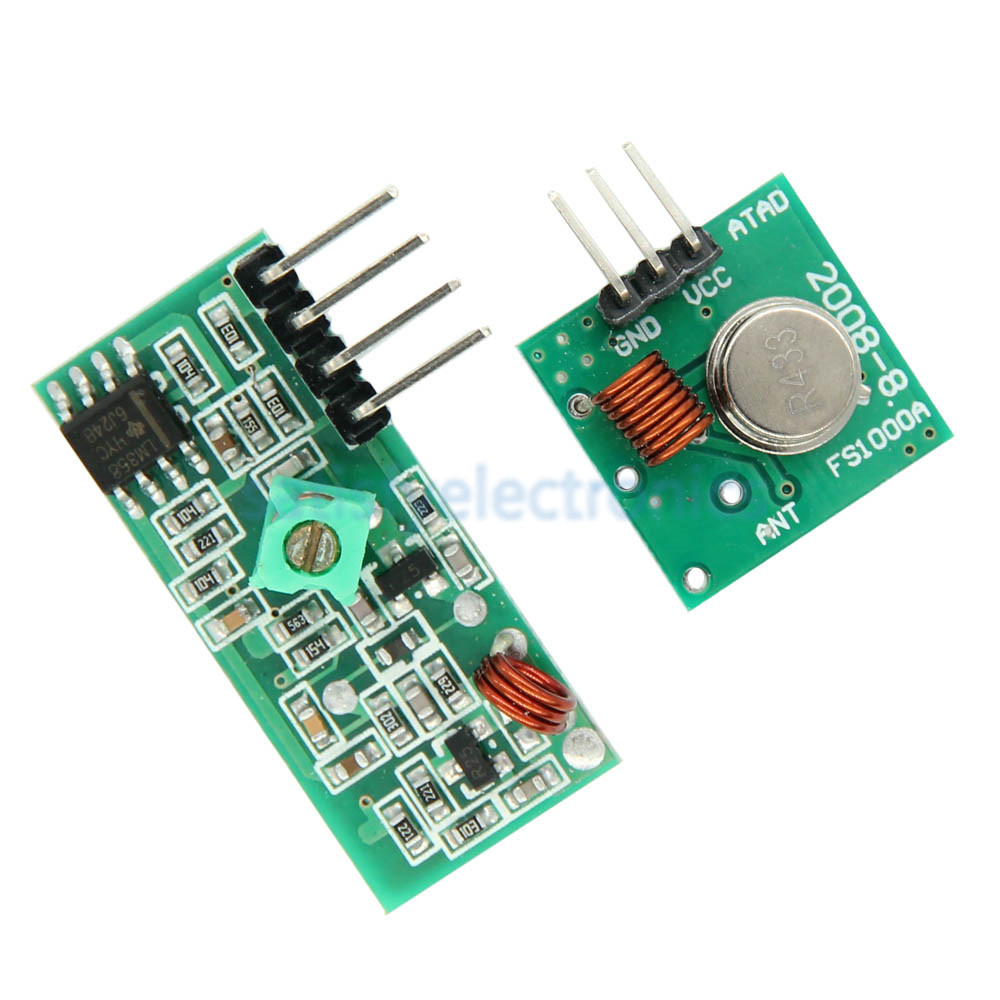 433Mhz RF Wireless Module Transmitter Receiver Link Kit 5V DC For Arduino Raspberry Pi /ARM/MCU WL