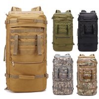 60L Waterproof Molle Camo Tactical Backpack Military Army Hiking Camping Backpacks Travel Rucksack Outdoor Sports Climbing Bag