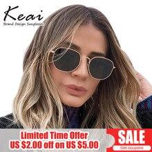 Round Hexagon Polarized Sunglasses for Women Brand Designer