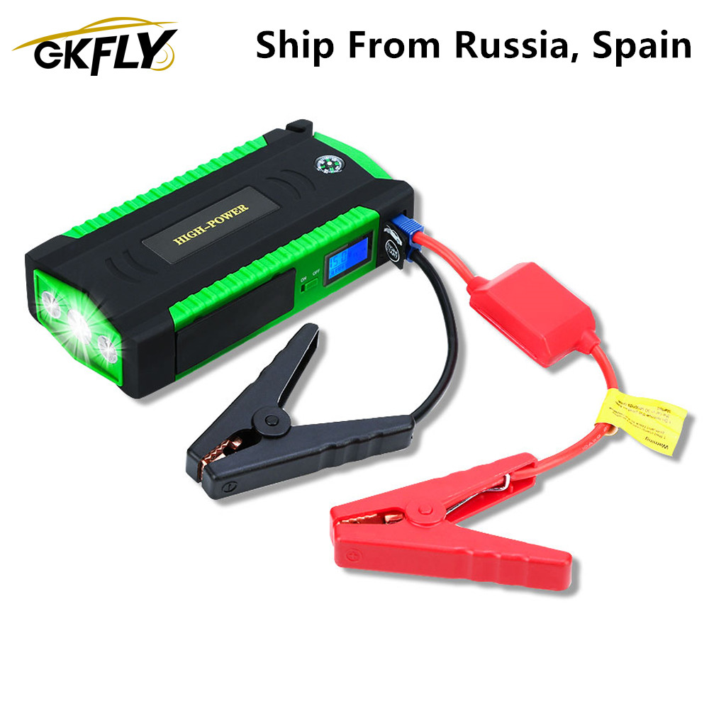 GKFLY Car Jump Starter 16000mAh 12V 600A Portable Starting Device Car Charger For Car Battery Booster Petrol Diesel Power Bank