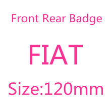 120mm F-IAT árvore frente capa emblema do carro traseiro tronco boot tampa etiqueta emblema para acessórios de automóvel especificação de produto logotipo adesivo