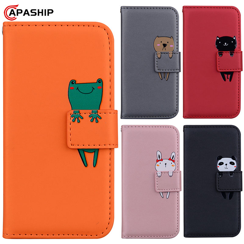3D Cartoon Animal Flip Case For XiaoMi RedMi Note 7 8 Pro 8T 7A 8A Note7 Note8Pro Note8T RedMi7A RedMi8A PU Leather Wallet Cover(China)