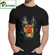Retorno Dos Mortos Vivos Hallowmas T-Shirt Verão Suave 100% Premium Algodão O-pescoço T-Shirt Do Dia de Natal