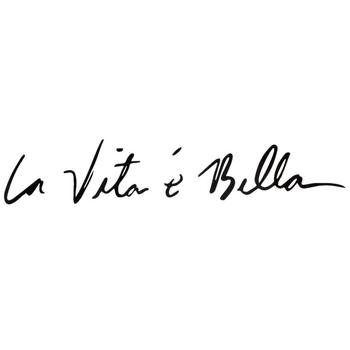 Car Sticker Decals Words Life is Beautiful LA VITA E BELLA Reflective Window Trunk Car Styling Exterior Accessories 40x8cm image