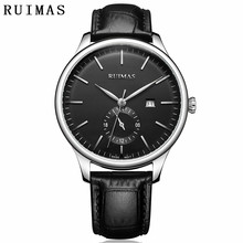 RUIMAS Business Men Watch Top Luxury Brand Stainless Steel Wrist Chronograph Army Military Watches Relogio Masculino