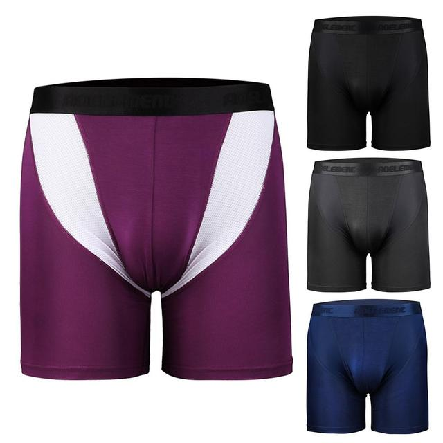 Men Quick Dry Elastic Training Fitness Trunks Compression Exercise Sports Shorts 1