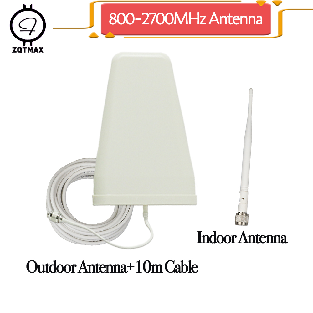 ZQTMAX 9dBi Logarithmic Period Antenna For Gsm Dcs Wcdma Umts 3g Repeater 900 1800 2100 850 Mhz Mobile Signal Booster