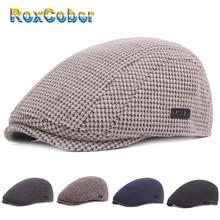 RoxCober, Зимний берет, теплая шапка, газетная Кепка для мужчин и женщин, плоская кепка Гэтсби, кепка, casquette, утолщенная шапка, винтажные береты, шапка плюща