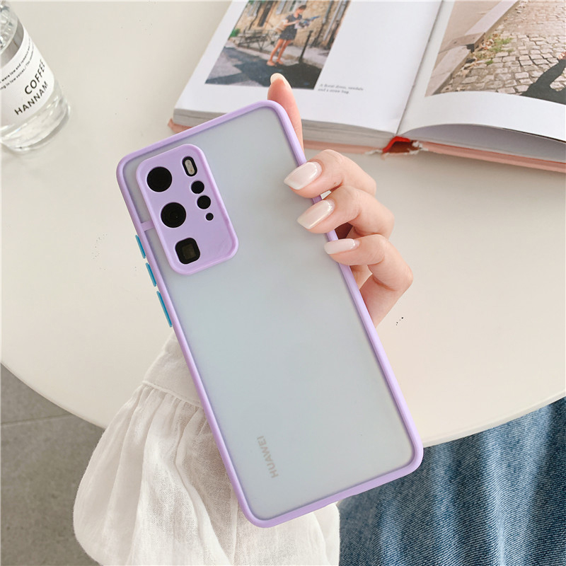 Shockproof  Phone Case Back Cover For Huawei P40 Pro Luxury Translucent Soft Case For Huawei P40 P30 Pro Mate 30 20 Pro Case (16)