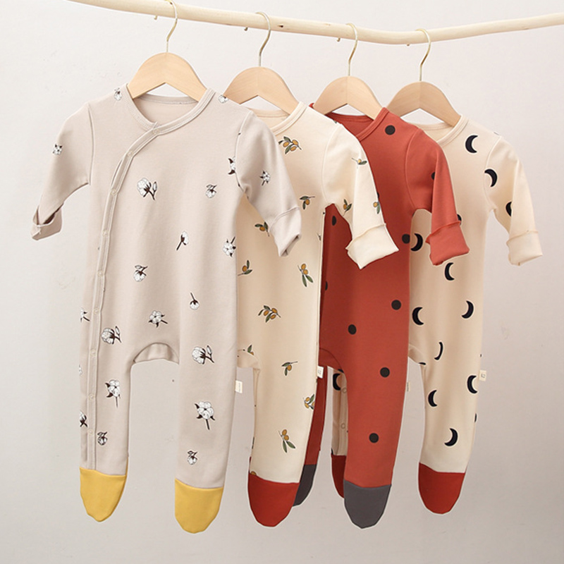 Yg Baby Clothes Newborn Baby Clothes With Hat Printing Baby Jumpsuit Long Sleeve Boys And Girls' Autumn Underpainting Jumpsuit 4