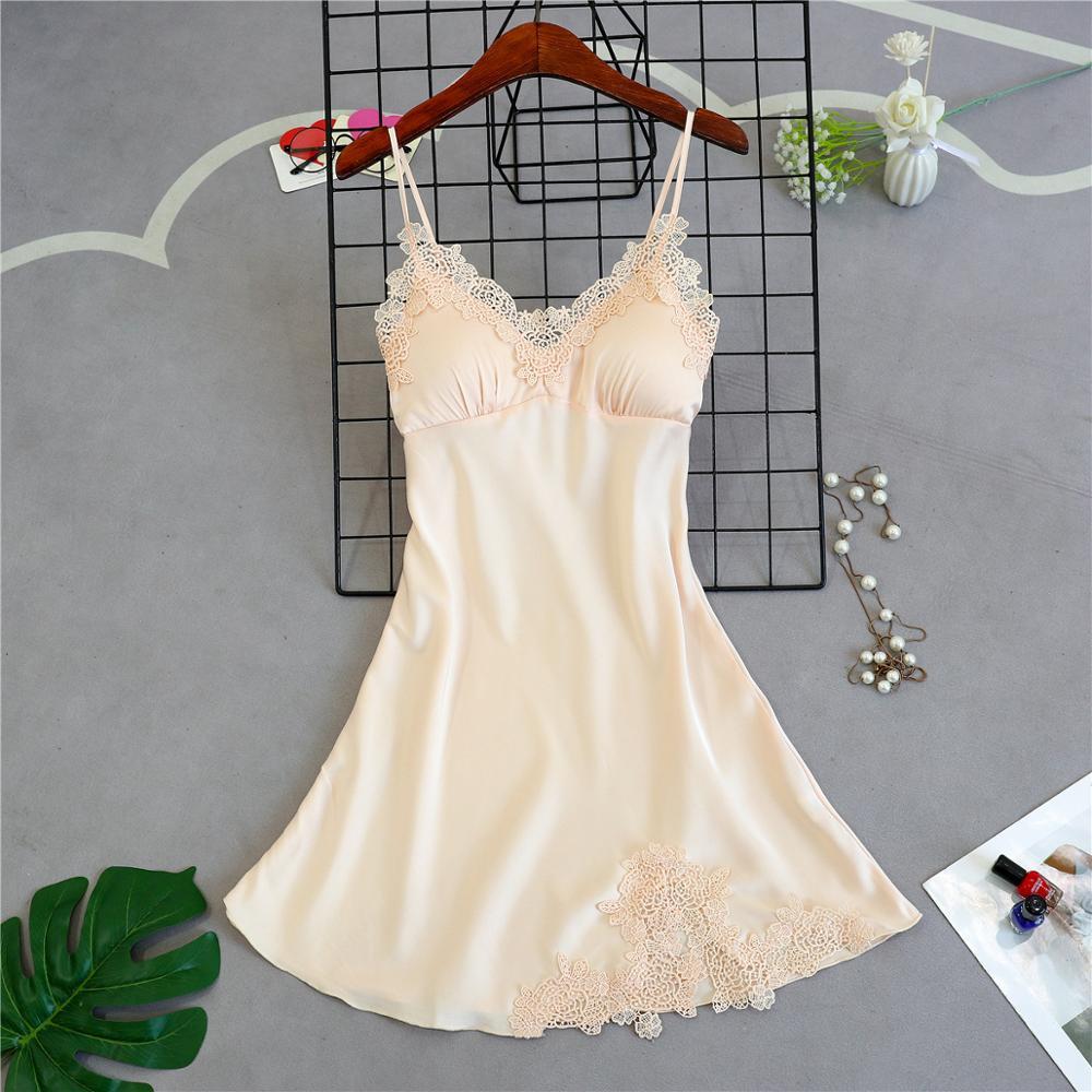 Женские пижамы, 5 шт., атласная пижама, шелковая Домашняя одежда, домашняя одежда, вышивка, Пижама для сна, для отдыха, пижама с нагрудными накладками - Цвет: Champagne B