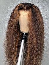 Pelucas de cabello humano con encaje frontal, 13x1 Hd, 250 de densidad, brasileño, sin pegamento, ondulado y mojado