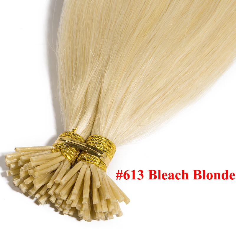 queratina pré ligado extensões do cabelo em linha reta 0.5 g s