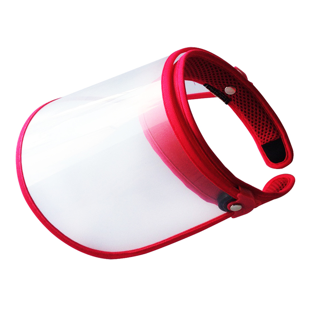 Summer Outdoor Sun Hat Men Women Saliva-proof Visor Caps Dustproof Empty Top PVC Face Shield Wide Brim Sports Sunhat Face Guard 5