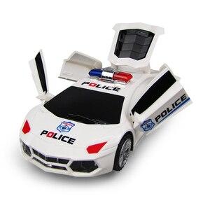 Image 3 - 360 degrés roues rotatives Cool éclairage musique enfants voitures de Police électroniques jouet début jouets éducatifs pour bébé garçons enfants cadeaux