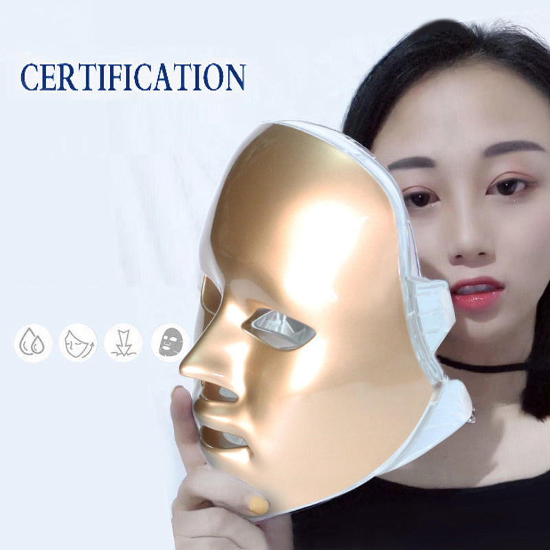 Image 5 - New Led Facial Mask Korean 7 Colors Photon Therapy Face Mask Machine Light Therapy Acne Led Mask skin care Beauty machine-in LED Mask from Beauty & Health