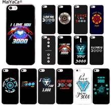 Maiyaca Marvel Iron Man I Love You 3000 Foto Kustom Lembut Ponsel Case untuk iPhone 11 Pro XS MAX 8 7 6 6S Plus X 5 5S SE XR Cover(China)
